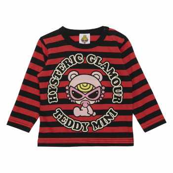 MY FIRST HYSTERIC HELLO TEDDY MINI ボーダー長袖Tシャツ
