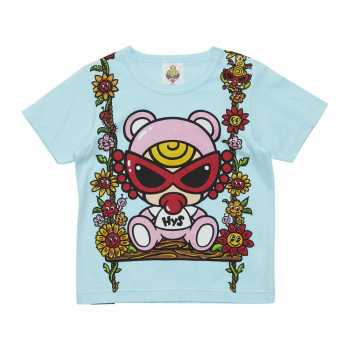 MY FIRST HYSTERIC TEDDY MINI&FLOWERプリント 半袖BIGTシャツ