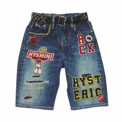 Hystericmini Like a denim Viscotex STANDARD CHARCTOR ストレート膝上丈デニムパンツ