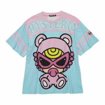 Hystericmini TEDDY MINI 袖ライン入り BIG Tシャツ