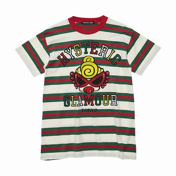 Hystericmini PUFFY MINI ボーダーTシャツ