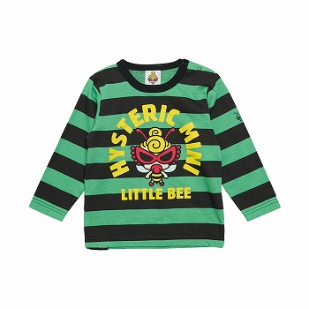 [SALE]MY FIRST HYSTERIC LITTLE BEE ボーダー長袖Tシャツ