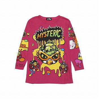 Hystericmini BOUNCY BALLS BIG長袖Tシャツ