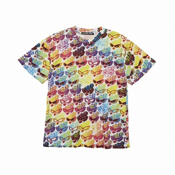 Hystericmini COLOR SPECTRUM総柄 Viscotex BIGTシャツ