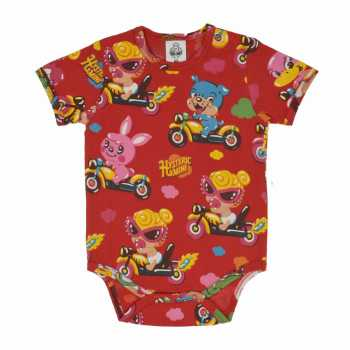 MY FIRST HYSTERIC HYSTERIC MINI CHITTY CHITTY RACE総柄 半袖ロンパース