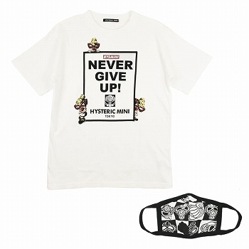 Hystericmini NEVER GIVE UP!半袖Tシャツ