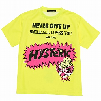 MY FIRST HYSTERIC NEVER GIVE UPネオン半袖Tシャツ