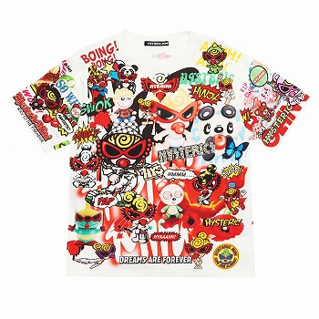 Hystericmini CHAOS COLLAGE半袖Tシャツ