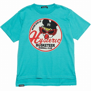 Hystericmini MUSKETEER BASE BALL CLUB半袖Tシャツ