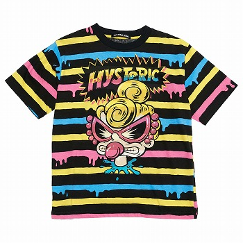 Hystericmini DROPPING BORDER半袖Tシャツ