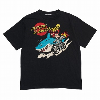 Hystericmini SHARK RIDE半袖Tシャツ