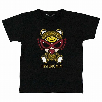 Hystericmini TEDDY MINI MONOGRAM柄半袖Tシャツ