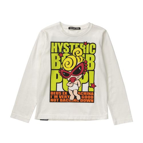 Hystericmini BOMBPOPMINIプリントロングTシャツ
