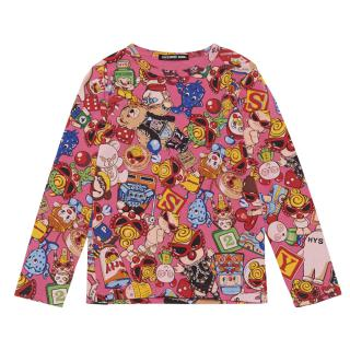 Hystericmini HYSTERIC MESSY TOYS総柄長袖Tシャツ