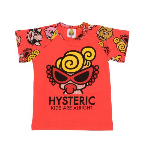 MY FIRST HYSTERIC HYSTERIC PARTY CRUSHER総柄ラグラン半袖Tシャツ