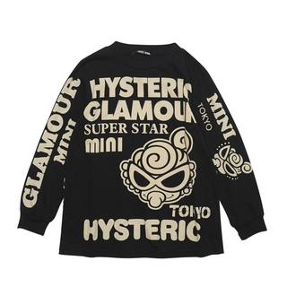 Hystericmini HYSTERIC GLAMOUR ロゴプリント 長袖Tシャツ