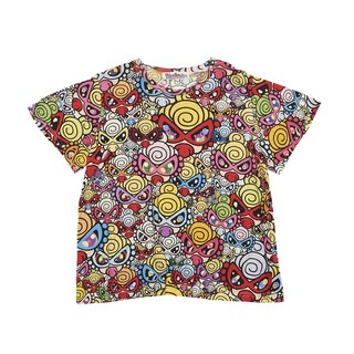 Hystericmini Prismatic Mini Face総柄 ViscotexビッグTシャツ