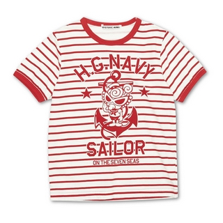 Hystericmini SAILOR MINI ボーダー柄Tシャツ