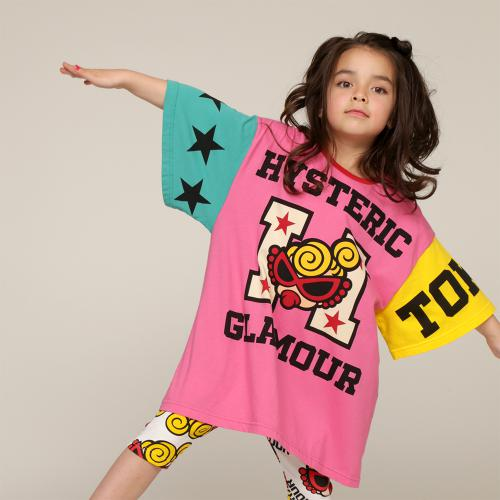 Hystericmini HYSTERIC GLAMOUR ロゴ&星柄 BIG Tシャツ