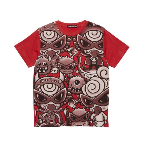 S-Hystericmini エンジェルコットHYSTERIC HUNGRY MONSTER 半袖Tシャツ
