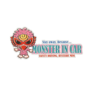 Hystericmini MONSTER IN CAR STICKER(外貼り)