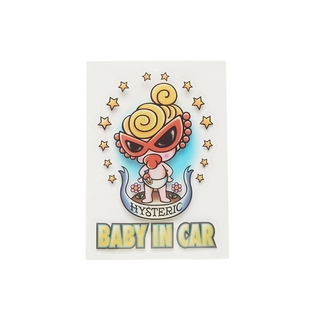 Hystericmini BABY IN CAR STICKER(内貼り)
