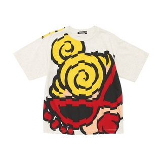 Hystericmini GALLERY LOSANGELS BIG MINI FACE オーガニックフライス スーパーBIGTシャツ