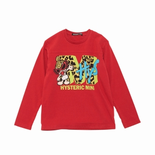 Hystericmini HYS MINI NET WORK ロゴロングTシャツ