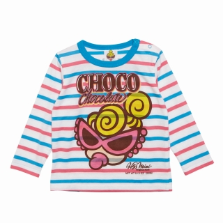 "MY FIRST HYSTERIC CLASSIC MINI ""CHOCOLATE"" ボーダー柄長袖Tシャツ"