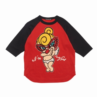 Hystericmini GIZA45 I'M VERY GOOD ラグラン長袖Tシャツ