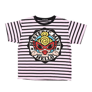 Hystericmini HELLO THERE CLASSIC MINI 細ボーダー柄半袖Tシャツ