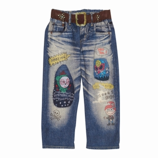 Hystericmini Like a Denim Viscotex ROCKAHOLIC クロップド丈デニムパンツ