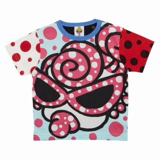 MY FIRST HYSTERIC HYSTERIC MINI HAPPENING クレイジーパターン半袖Tシャツ