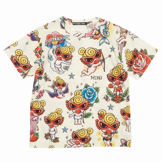 Hystericmini TATTOO総柄 Viscotex 半袖Tシャツ