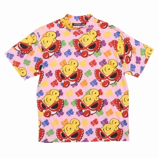 Hystericmini ROLLING MINI MULTI COLOR総柄 半袖Tシャツ