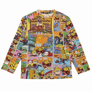 Hystericmini MOTORCYCLE ADVENTURE総柄長袖Tシャツ