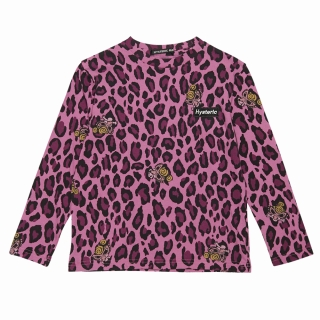 Hystericmini LEOPARD MINI ALL OVER総柄長袖Tシャツ