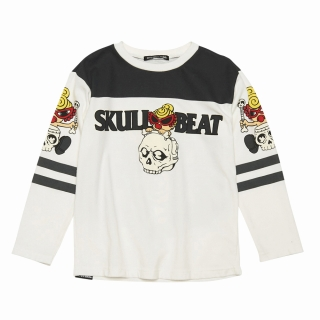 Hystericmini STANDARD MARK SKULL RIDE MINI サーモライト 長袖BIGTシャツ