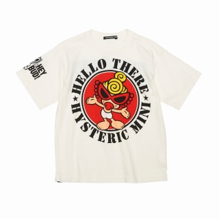 "Hystericmini STANDARD MARK ""HELLO THERE"" コーマ天竺 半袖BIGTシャツ"