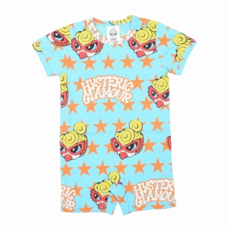 MY FIRST HYSTERIC HYSTERIC TWINKLE STAR総柄ショート丈カバーオール
