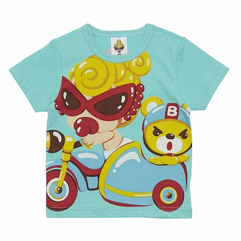 MY FIRST HYSTERIC CHITTY CHITTY RACEパネルプリントコーマ天竺半袖Tシャツ