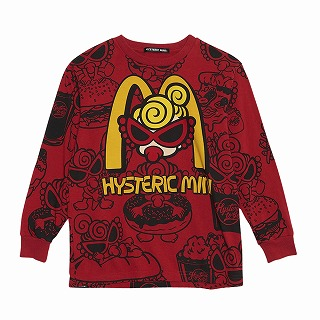 Hystericmini HYSTERIC TO GO パネルプリント コーマ天竺長袖Tシャツ