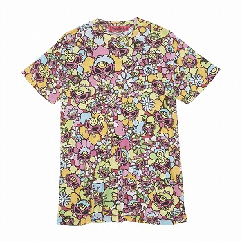Hystericmini MONSTER FLOWER GARDEN総柄 BIGTシャツ