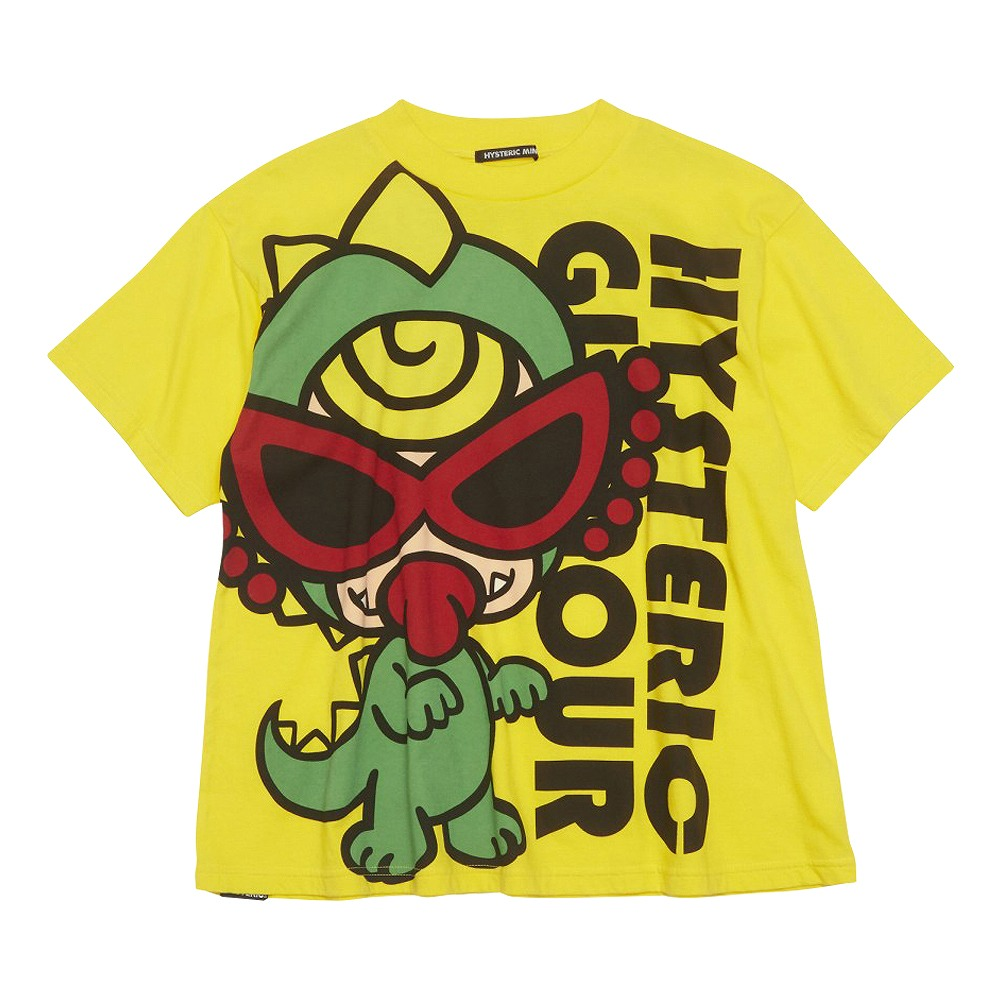 Hystericmini MONSTER FLOWER GARDEN ミニラBIG半袖Tシャツ