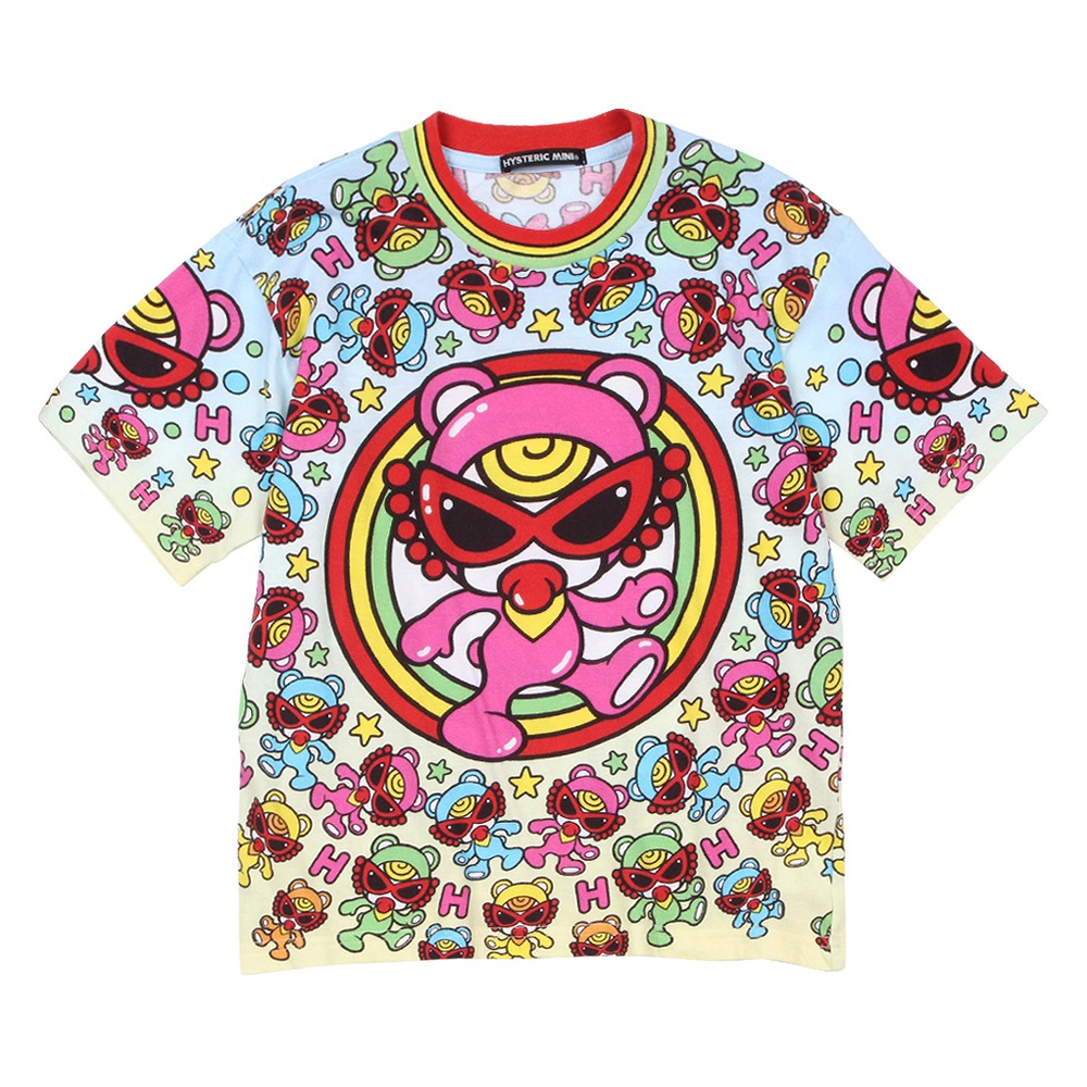 [SALE]Hystericmini HYSTERIC BEAR Viscotex 半袖Tシャツ