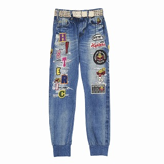 Hystericmini PUNK KIDS Like a Denim Viscotex 10分丈デニムパンツ