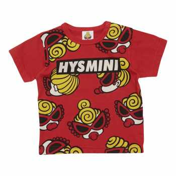 MY FIRST HYSTERIC MINI FACE総柄 コーマ天竺半袖Tシャツ