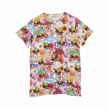 [SALE]Hystericmini POP FLOWER総柄 Viscotex BIG 半袖Tシャツ