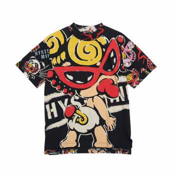Hystericmini TAGGING MINI総柄 コーマ天竺半袖BIGTシャツ