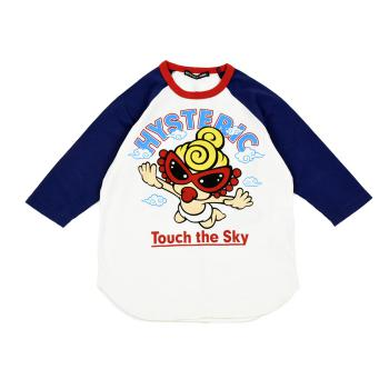 Hystericmini FLYING MINI ラグランTシャツ